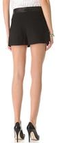 Alice + Olivia Leather Trim Flutter Shorts
