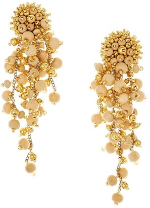 Oscar de la Renta Cascade beaded earrings