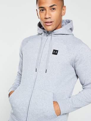 Under Armour Rival Fleece Full Zip Hoodie - Grey/Black