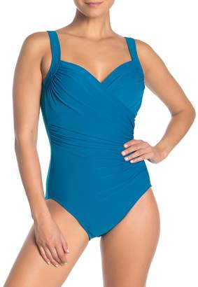 Miraclesuit Draped One-PIece Swimsuit (Regular & Plus Size)
