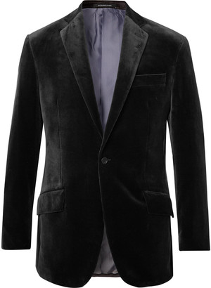 Richard James Charcoal Cotton-Velvet Blazer
