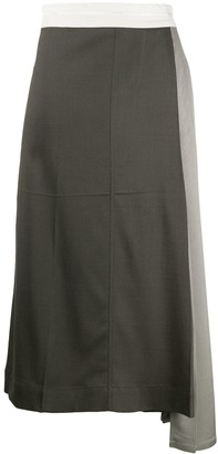 Peter Do Pleated Insert Skirt