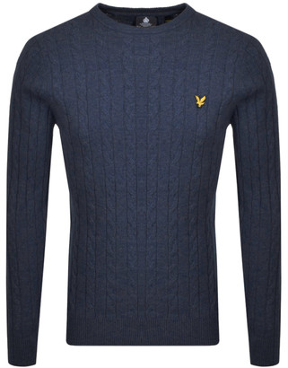 Lyle & Scott Crew Neck Cable Jumper Navy