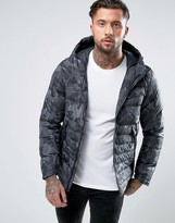 Nike Padded Jacket With Hood In Black 806857-010
