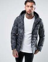 Nike Padded Jacket With Hood In Black 806857-010