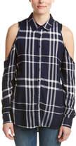 Romeo & Juliet Couture Cold-Shoulder Shirt