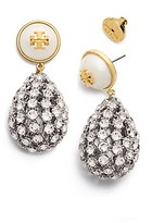 Tory Burch Crystal Pearl Statement Earring