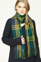 Forever 21 Flannel Plaid Oblong Scarf