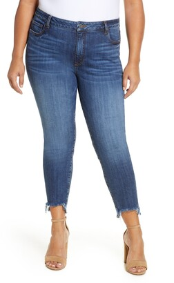 KUT from the Kloth Reese Frayed Step Hem Ankle Straight Leg Jeans