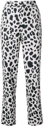 Koché Leopard Print Straight Trousers