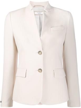 Peserico Slim-Fit High-Collar Blazer