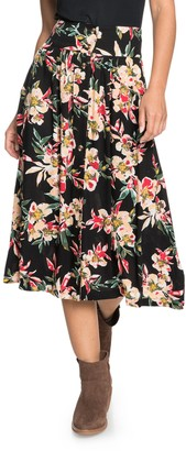 Roxy Never Been Better Floral Print Skirt