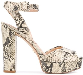 Sam Edelman Snakeskin Textured Sandals