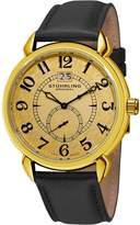 Stuhrling Original Men's 50E.333531 Eternity Swiss Quartz Date Goldtone Watch