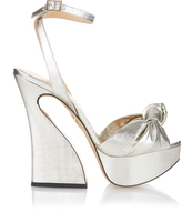 Charlotte Olympia Vreeland knotted lamé sandals