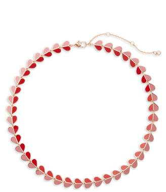 Kate Spade Heritage Spade Crystal Heart Necklace