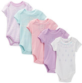 Lucky Brand Lotus Bodysuit Pack - Pack of 5 (Baby Girls)