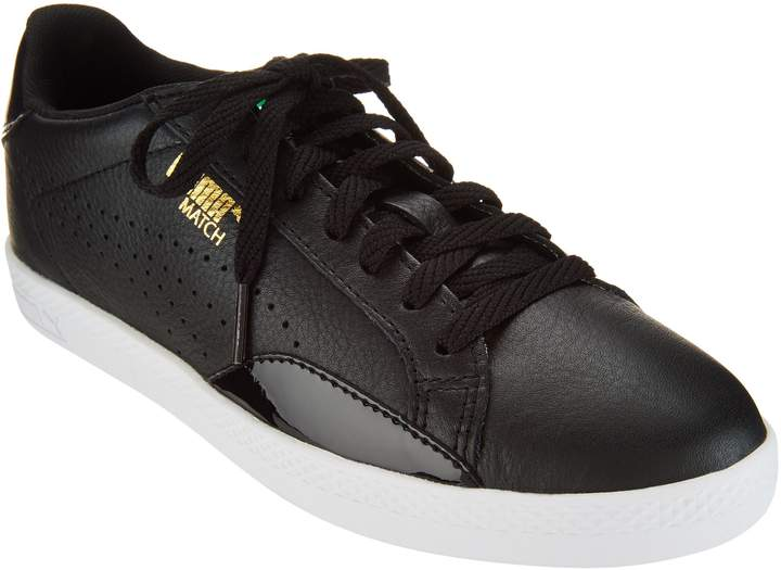livraison gratuite f56dd 0d41e Leather & Suede Lace-up Sneakers - Match