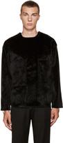 Toga Virilis Black Faux Calf-Hair Shirt