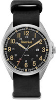 Timberland Men's Raynham Black Leather Strap Watch 44x48mm TBLGS14829JS02AAS