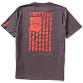 Under Armour Short-Sleeve Stretch Freedom Flag Charged Cotton® Crewneck Graphic Tee