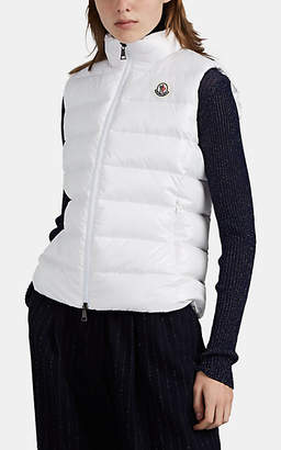 Moncler Women's Ghany Lacquered-Effect Down Vest - White