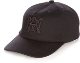 Alexander McQueen Embroidered wool and cashmere-blend cap