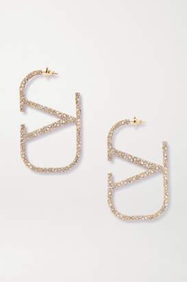 Valentino Garavani Gold-tone Crystal Earrings
