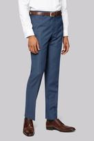 DKNY Slim Fit Blue Sharkskin Trousers