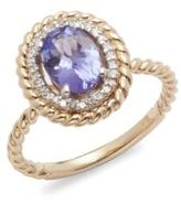 Effy Diamond & 14K Yellow Gold Cable Ring