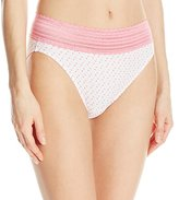 Warner's Women's No Pinching No Problems Lace Hi-Cut Brief Panty