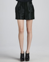 Theyskens' Theory Ponalf Calf-Hair Shorts