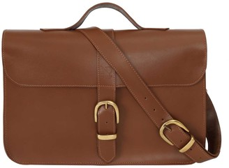 N'damus London Fenchurch Tan Leather Briefcase