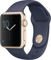 Apple Watch Series 1 38mm Gold Aluminum Case with Midnight Blue Sport Band MQ102LL A