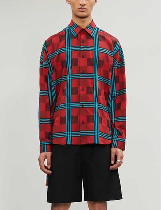 Facetasm Checked cotton shirt