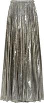 Lanvin Printed silk-blend lamé maxi skirt