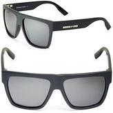 McQ by Alexander McQueen Color Block 57mm Square Sunglasses