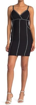 GUESS Contrast Stitch Bodycon Mini Dress