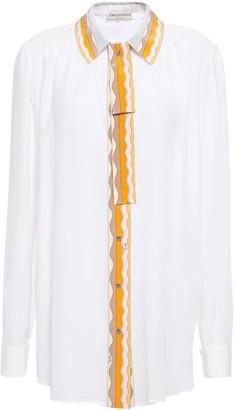 Emilio Pucci Tie-neck Silk Crepe De Chine Shirt