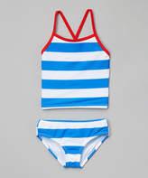 Kanu Surf Blue & White Layla Tankini - Infant, Toddler & Girls
