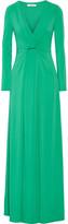 Halston Draped stretch-jersey gown