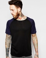 Ymc Jumper With Contrast Short Sleeves In Black