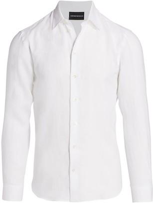Emporio Armani Linen Sports Shirt