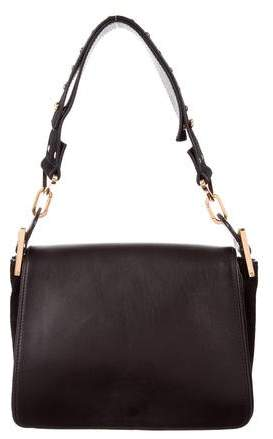 Chloé Studded Leather & Suede Satchel