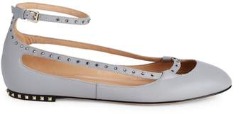 Valentino Garavani Embellished Leather Ballet Flats