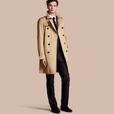 Burberry The Kensington - Long Heritage Trench Coat , Size: 52, Yellow