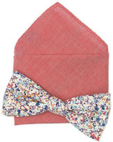 Original Penguin Demeter Floral Bow & Pocket Square Combo Set