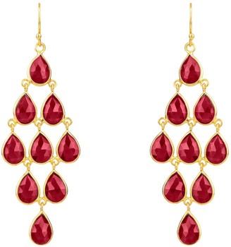 Latelita Erviola Gemstone Cascade Earrings Gold Garnet