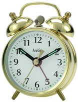 Acctim Mini Double Bell Alarm Clock Brass