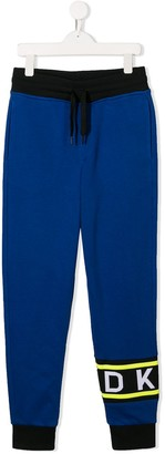 DKNY logo print track pants